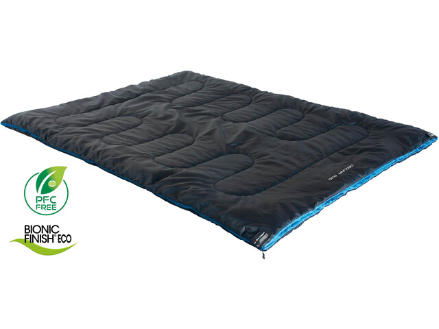 High Peak Ceduna Duo Saco de Dormir, anthrazit/blue